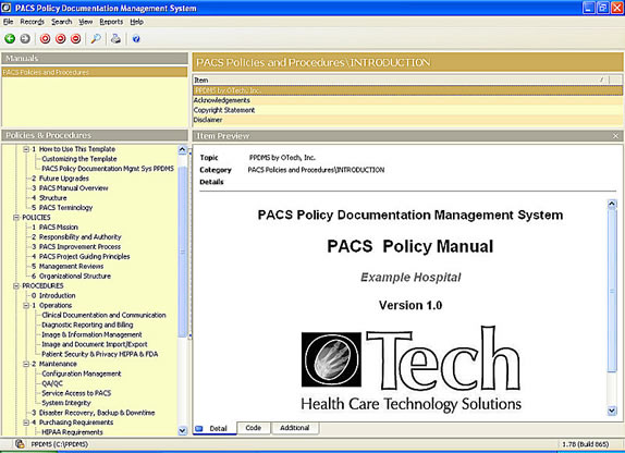 Ehr Pacs Ihe Dicom  Hl Training And Consulting  Otech Inc